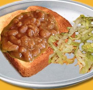 Bean Sandwich with Side Salad