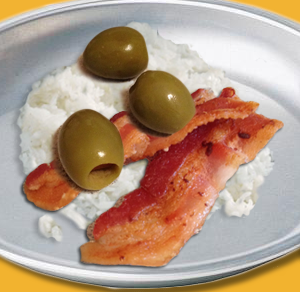 Green Olives and Ham