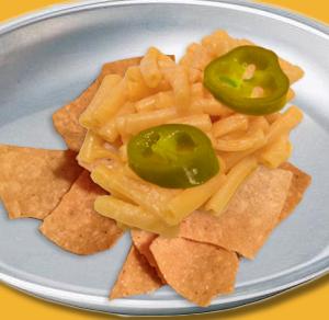 Spicy Macaroni and Cheese Nachos